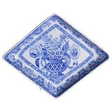 A George III Spode diamond shaped dish