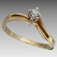 Vintage 1980's Friendship/Promise Twist Diamond Ring in 9ct gold