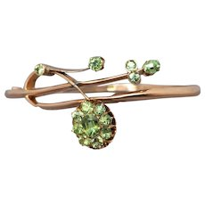 Antique Art Nouveau Russian Demantoid Garnet Bangle Bracelet