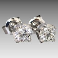 Dazzling 0.88cwt Diamond Stud Earrings in 9k White Gold