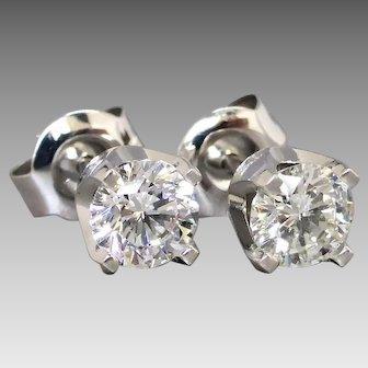 Dazzling 0.88cwt Diamond Stud Earrings in 9k White Gold