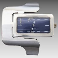 Vintage German 1970's Modernist Sterling Silver Statement Watch