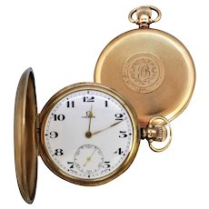 Vintage c1926 Art Deco 9ct Gold Gents Omega Pocket Watch
