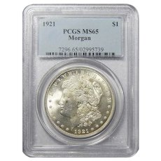 1921 Pcgs MS65 Morgan Dollar