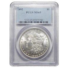 1892 Pcgs MS65 Morgan Dollar