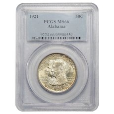 1921 Pcgs MS66 Alabama Half Dollar