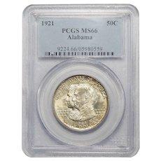 1921 Pcgs MS66 Alabama Half Dollar