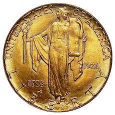 1926 Pcgs MS63 $2.50 Sesquicentennial Gold