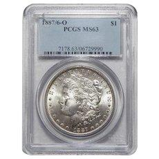 1887/6-O Pcgs MS63 Morgan Dollar
