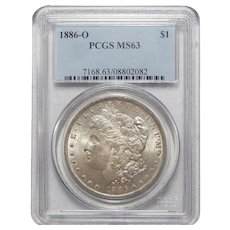 1886-O Pcgs MS63 Morgan Dollar