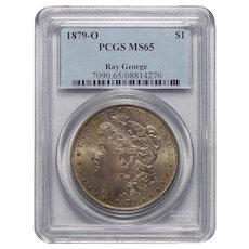 1879-O Pcgs MS65 Ray George Morgan Dollar