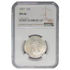 1807 Ngc MS66 Draped Bust Quarter