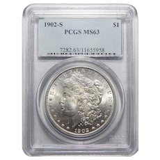1902-S Pcgs MS63 Morgan Dollar