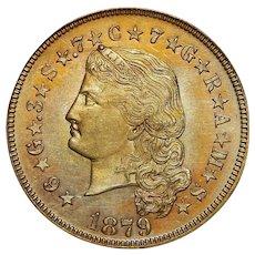 1879 Pcgs PR65 $4 Flowing Hair Stella Gold