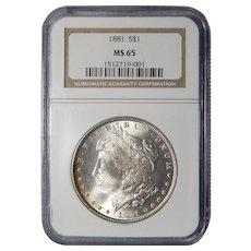 1881 Ngc MS65 Morgan Dollar