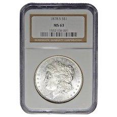 1878-S Ngc MS63 Morgan Dollar