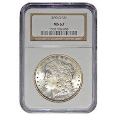 1890-O Ngc MS63 Morgan Dollar