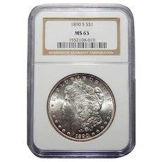1890-S Ngc MS63 Morgan Dollar