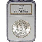 1882-O Ngc MS64 Morgan Dollar