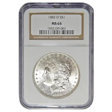 1882-O Ngc MS64 Morgan Dollar