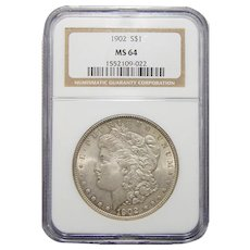 1902 Ngc MS64 Morgan Dollar