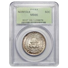 1936 Pcgs MS66 Norfolk Half Dollar