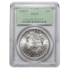 1898-O Pcgs MS65 Morgan Dollar
