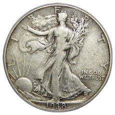 1938-D Pcgs VF25 Walking Liberty Half Dollar