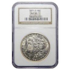 1921-S Ngc MS64 Morgan Dollar