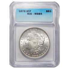 1878 8TF Icg MS64 Morgan Dollar