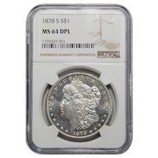 1878-S Ngc MS64DPL Morgan Dollar
