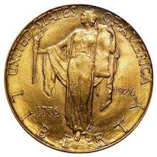 1926 Pcgs MS64 $2.50 Sesquicentennial Gold