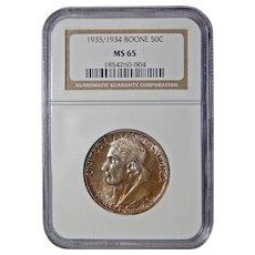 1935/34 Ngc MS65 Boone Half Dollar