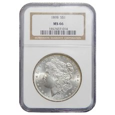 1898 Ngc MS66 Morgan Dollar