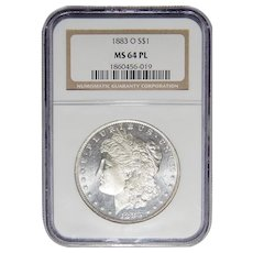 1883-O Ngc MS64PL Morgan Dollar