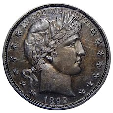 1892 Ngc PF64 Barber Half Dollar