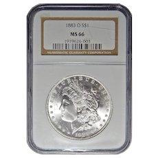 1883-O Ngc MS66 Morgan Dollar