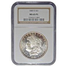 1880-S Ngc MS65PL Morgan Dollar