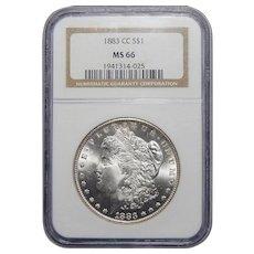 1883-CC Ngc MS66 Morgan Dollar