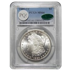 1885-CC Pcgs/Cac MS66 PQ! Morgan Dollar