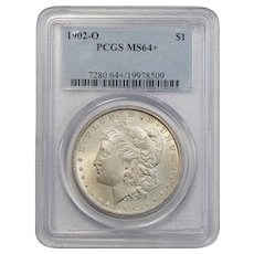 1902-O Pcgs MS64+ Morgan Dollar