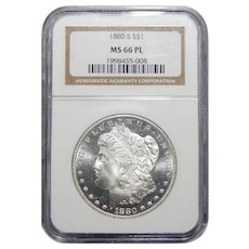 1880-S Ngc MS66PL Morgan Dollar