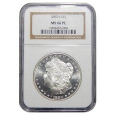 1880-S Ngc MS66PL Morgan Dollar