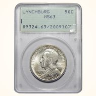 1936 Pcgs MS63 Lynchburg Half Dollar