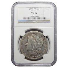 1885-CC Ngc VG10 Morgan Dollar