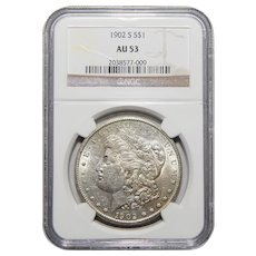 1902-S Ngc AU53 Morgan Dollar