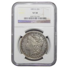1893-S Ngc VF30 Morgan Dollar