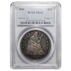 1846 Pcgs MS62 Liberty Seated Dollar
