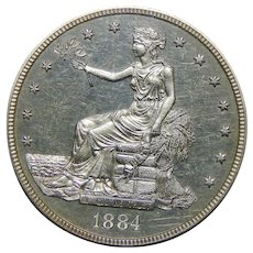 1884 Pcgs PR64CAM Trade Dollar