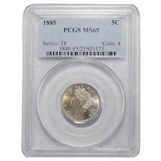 1885 Pcgs MS65 Liberty Nickel